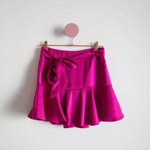 Forever 21 Magenta Belted Mini Skirt